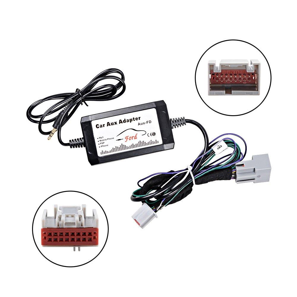 Car 3.5mm Plastic Metal Male Audio AUX Input Adapter Cable Fit for Mercedes//Benz W203 C Class CL-Klasse 2004-2006 Suuonee AUX Cable