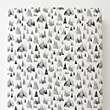 Carousel Designs Gray Mountains Toddler Bed Sheet Fitted