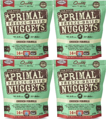 Primal Freeze-Dried Nuggets Chicken Formula for Dogs 56oz...