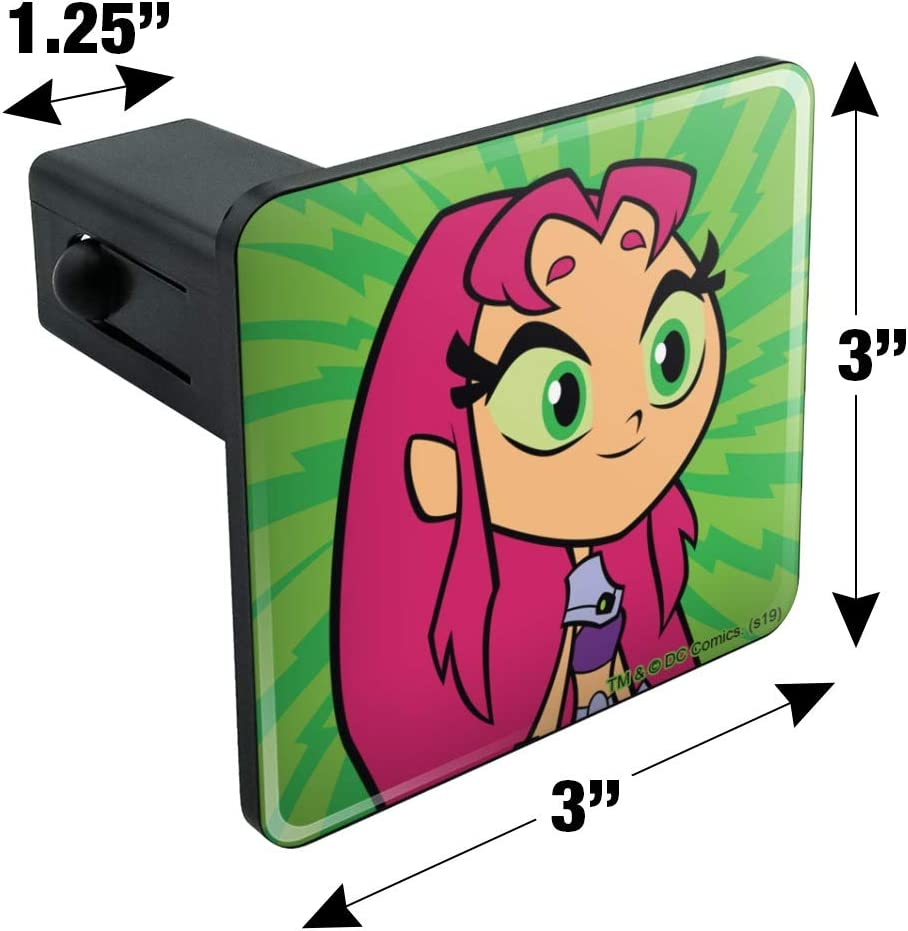 Starfire Tow Trailer Hitch Cover Plug Insert Graphics and More Teen Titans Go