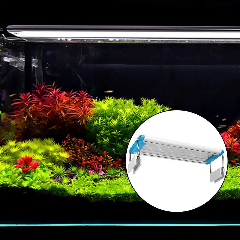 Pssopp Lampada per Acquario a LED AL-60LED LED per Lampada per Acquario Risparmio energetico Lampada per Acquario per Pesci Lampada per Acquario Impermeabile Lampada per Acquario