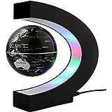 Yosoo 地球儀 C型 磁気浮上 世界地図 LEDライト 球体 自動回転 浮くライトアップ リニア型 飾りオフィス カラフル 点灯