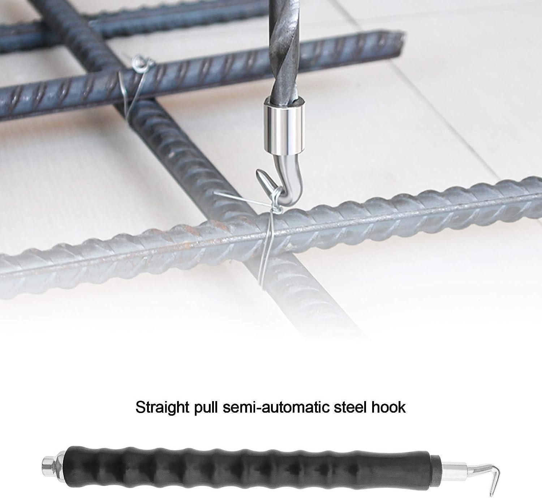 2pcs Rebar Hook Semi-Automatic Tie Wire Twister Wire Bundling Hooks Tool 300mm Metal Wire Twisting Fence Tool
