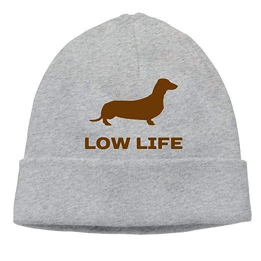 c4e570032893b GDSG5 4 Low Life - Dachshund Men Women Sweat Wicking Winter Ski Beanie  Skull Cap at Amazon Men s Clothing store