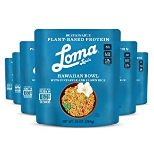 Loma Linda - Plant-Based Complete Meal Solution - Hawaiian Bowl - Heat & Eat (10 oz.) (Pack of 6) - Non-GMO, Gluten Free