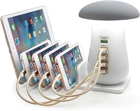 WWSUNNY EstacióN De Carga USB,5Puertos Cargador Universal ...