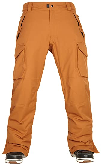 686 Mens Authentic Infinity Shell Cargo Snowboarding Pants Cognac X Large