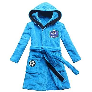 Feetoo Equipe De Football Brodé Garçon Peignoir De Bain Robe De Nuit Enfants