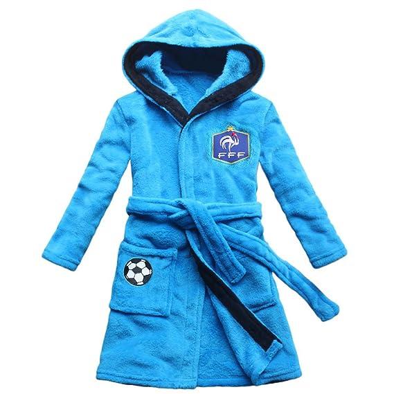 2018 Equipo de fútbol bordado Boy Albornoz Robe Childrens Nightgown: Amazon.es: Ropa y accesorios