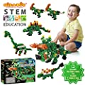 Click-A-Brick Herbivores! 100pc Building Blocks Set | Best STEM Toys for Boys & Girls Age 5 6 7 Year Old | Kids 3D Creative Puzzle Fun | Top Educational Learning Gift For Children Ages 5 - 12