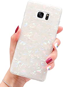 J.west Galaxy S7 Case, Luxury Sparkle Glitter Cute Phone Case Girls Women Pretty Design Translucent Clear Slim TPU Soft Rubber Silicone Cover Protective Case for Samsung Galaxy S7 G930 (Colorful)