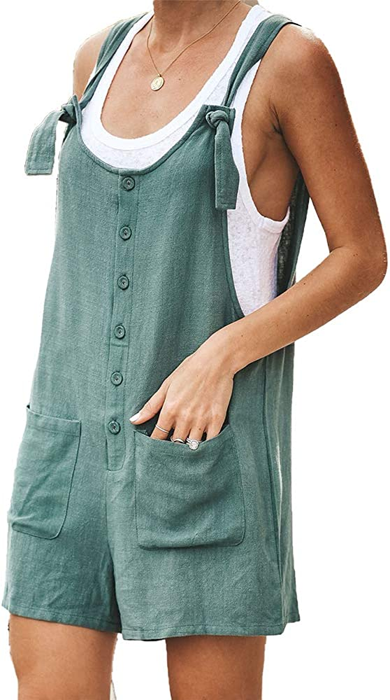 godoboo Tuta di Jeans Donna Salopette Donna Jeans Salopette da Donna in Jeans con Stampa in Denim Playsuit Romper Jeans Pantaloni Baggy Casual Jeans