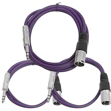 Amazon com: Seismic Audio - SATRXL-M3C-Purple - 3 Pack of