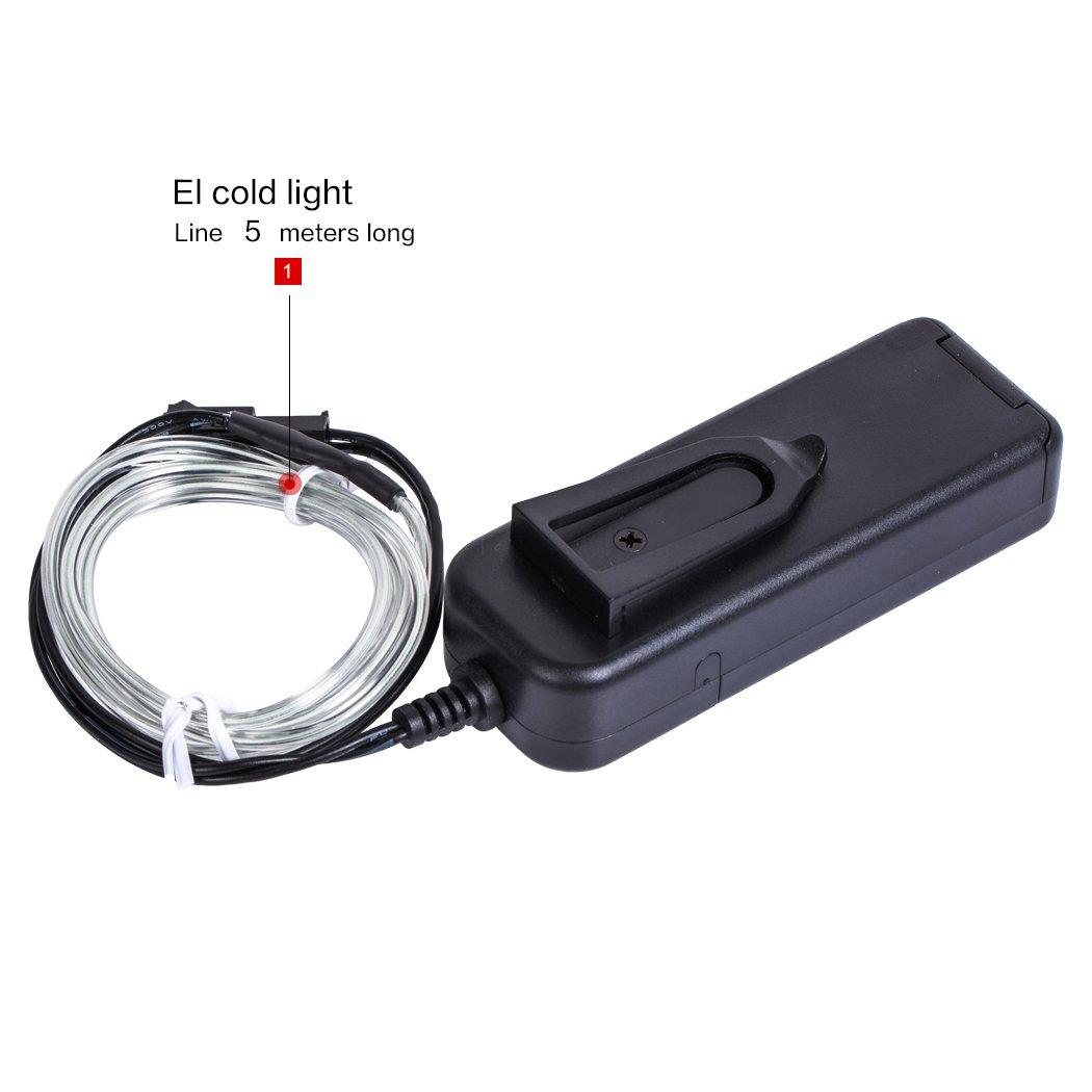 B-right® 5m Neon Beleuchtung EL Wire EL Kabel für Weihnachten ...