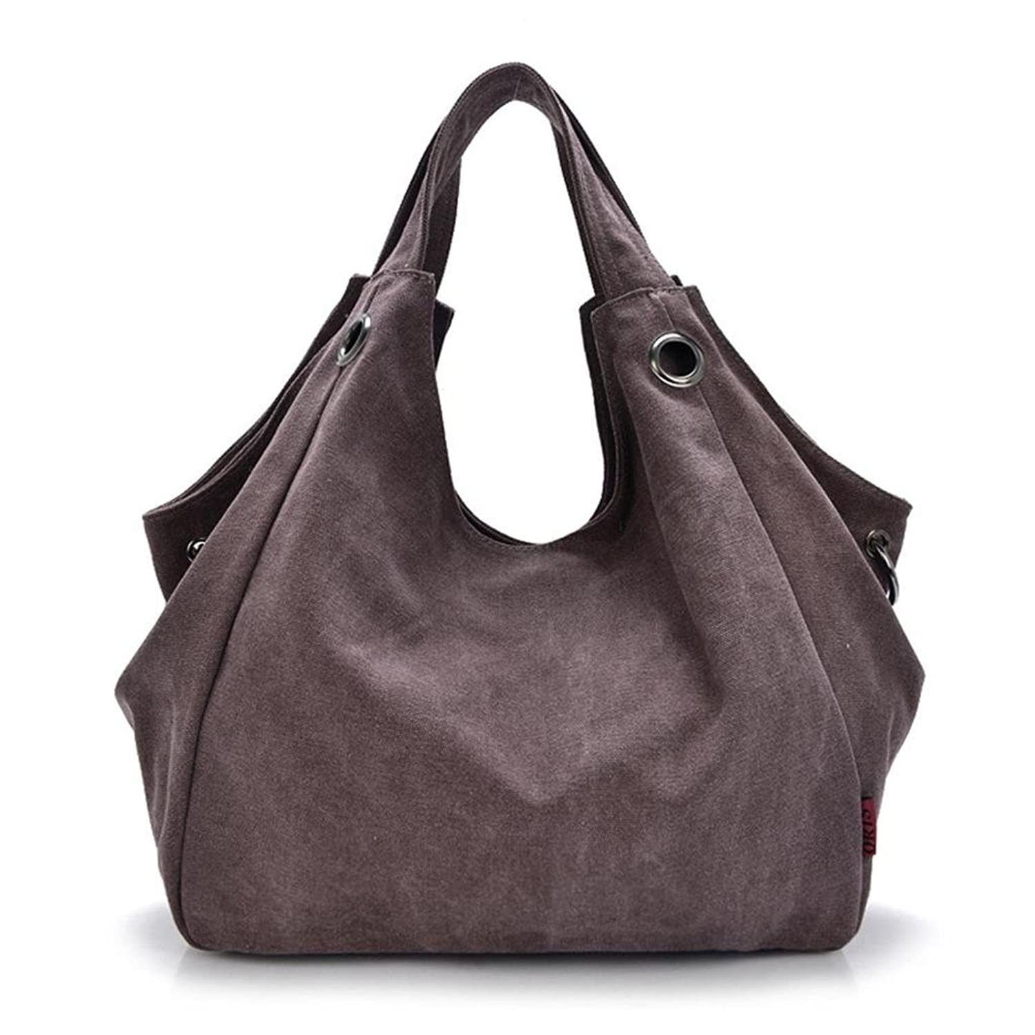 Tom Clovers New Simple Style Canvas Handbag Tote Top Handle Shoulder Crossbody Bags for Women