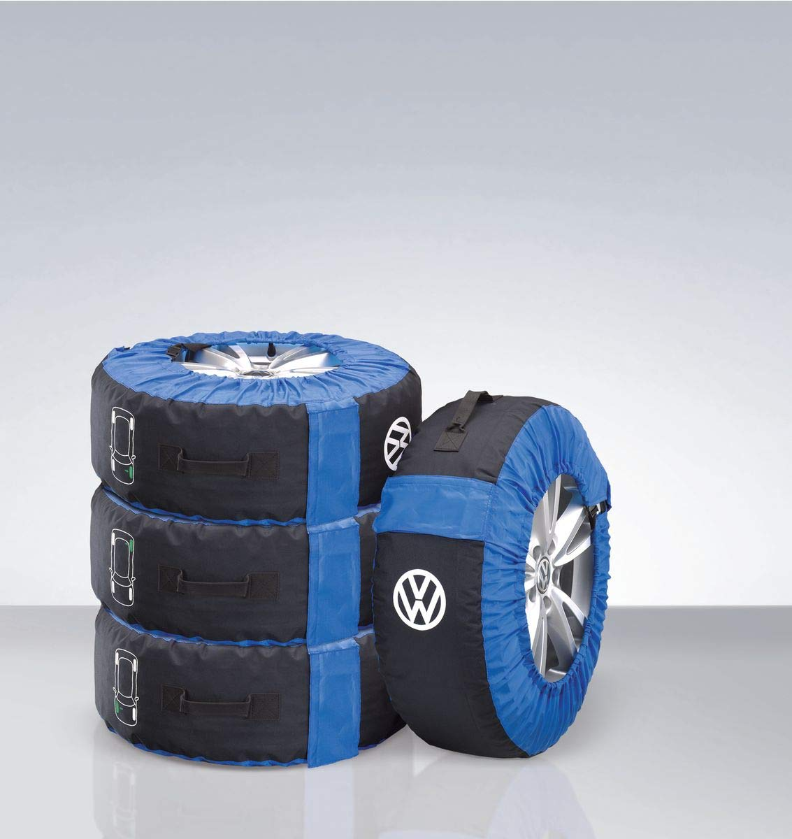 Volkswagen, 000073900E, tyre bag set, complete wheels, (up to 21 inches), bag tyre rim