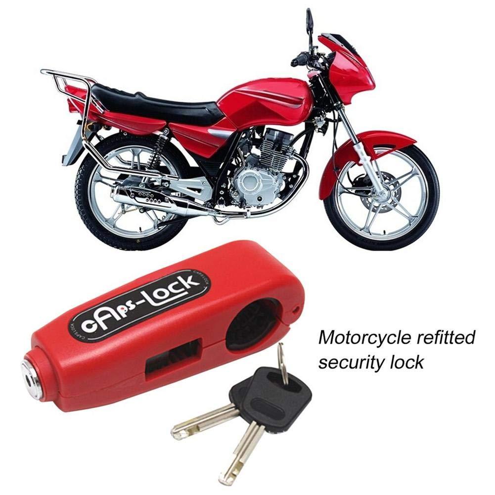 Easy-topbuy Bloqueo de Motocicleta Empu/ñadura Universal de Bloqueo con 2 Llaves Anti-Robo para Moto Scooter