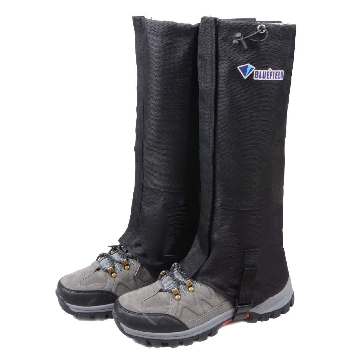 TRIWONDER Leg Gaiters Waterproof Snow Boot Gators Hiking Gaiters Men Women for Walking Climbing Hunting Cycling Backpacking Lightweight Rain Shoe Gaiters (1 Pair) (Black, XL) by TRIWONDER