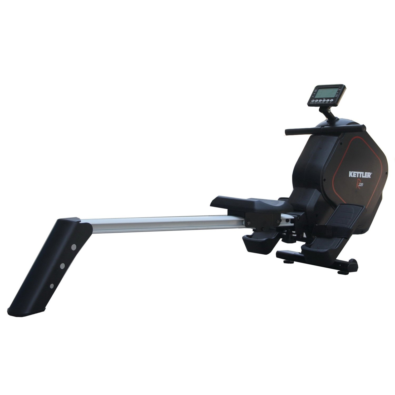 Kettler R220 Programmable Magnetic Rower with 16 Level Adjustable Resistance and Non-Wearing, Balanced Brake System by Kettler Fitness