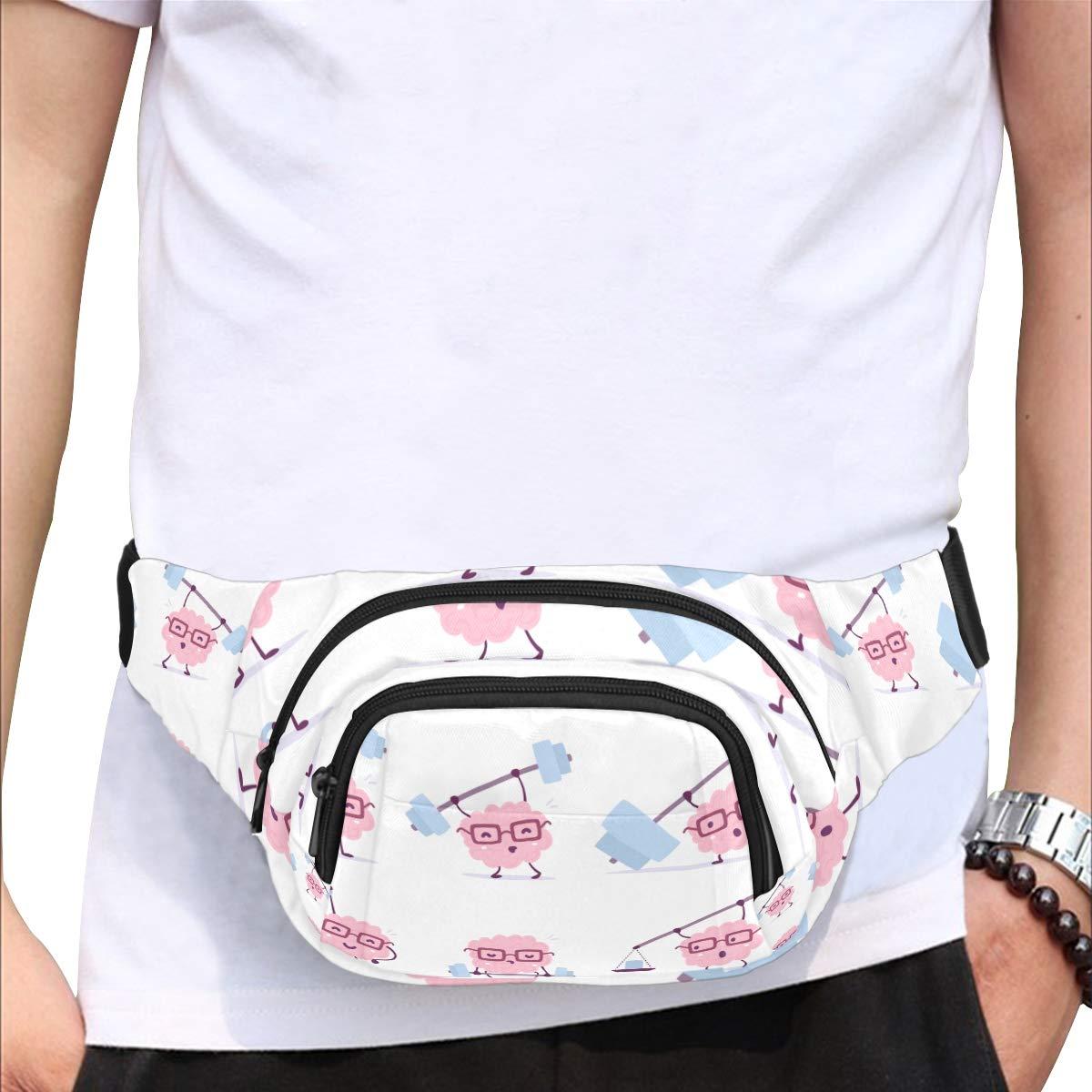 Animal Sporting With Barbell Fenny Packs Waist Bags Adjustable Belt Waterproof Nylon Travel Running Sport Vacation Party For Men Women Boys Girls Kids