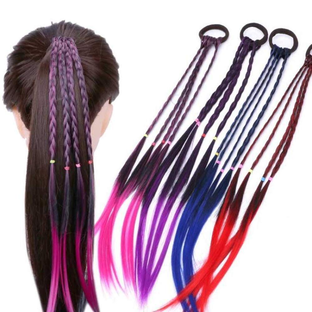 Amazon Com Girls Hair Extensions Accessories Colorful Wigs