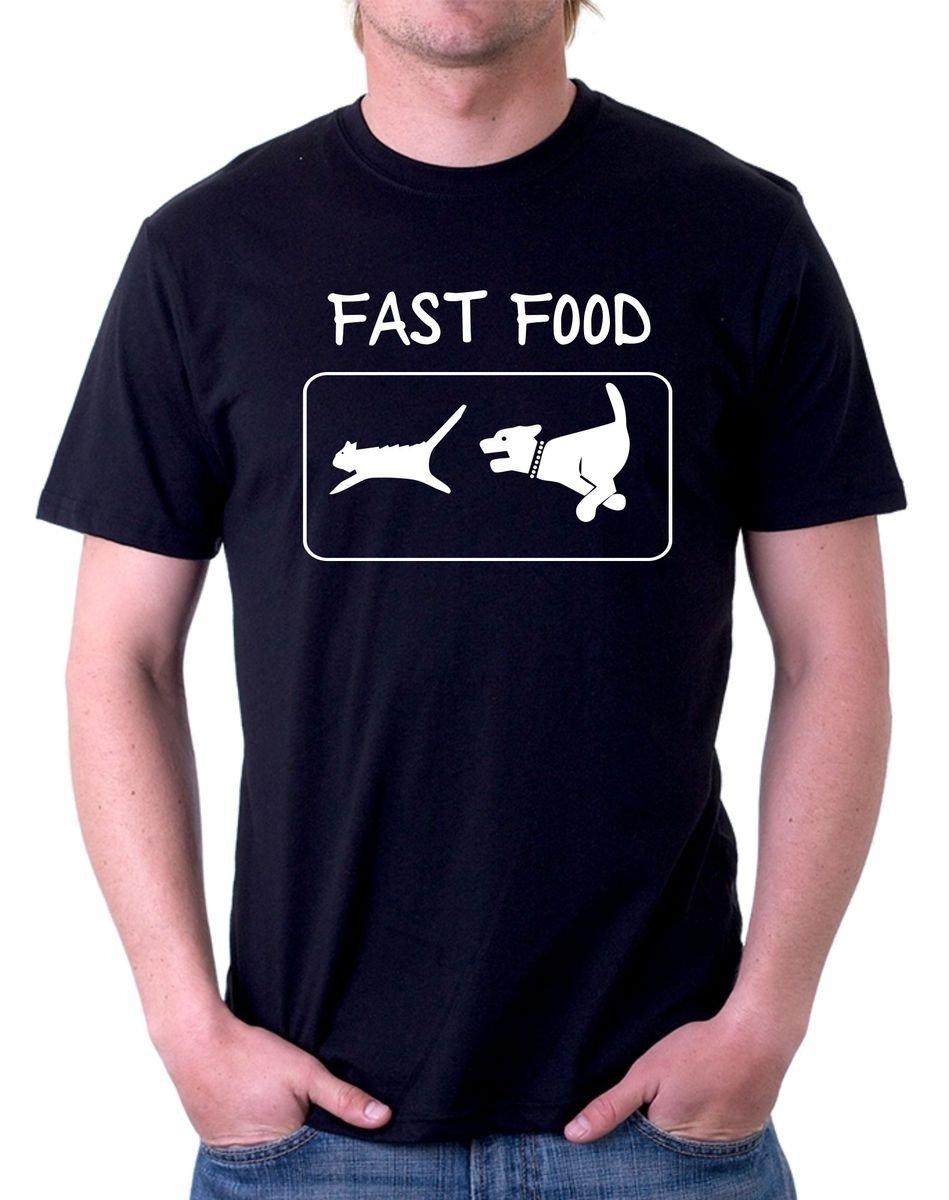 Camiseta Perro y Gato - Fast Food Humor Gato Ninja para ...
