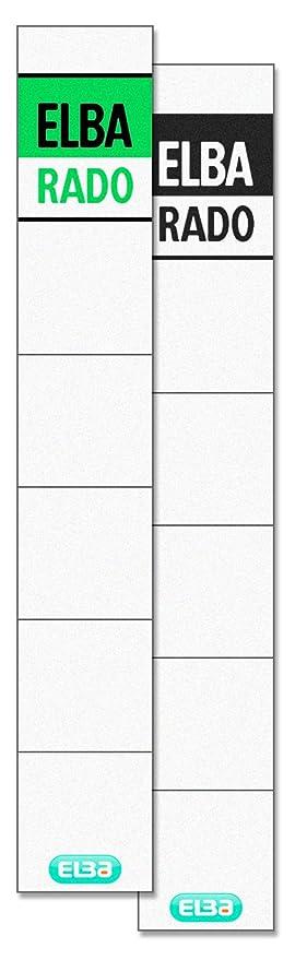 Elba - Etiquetas adhesivas para lomos de archivadores (10 unidades)