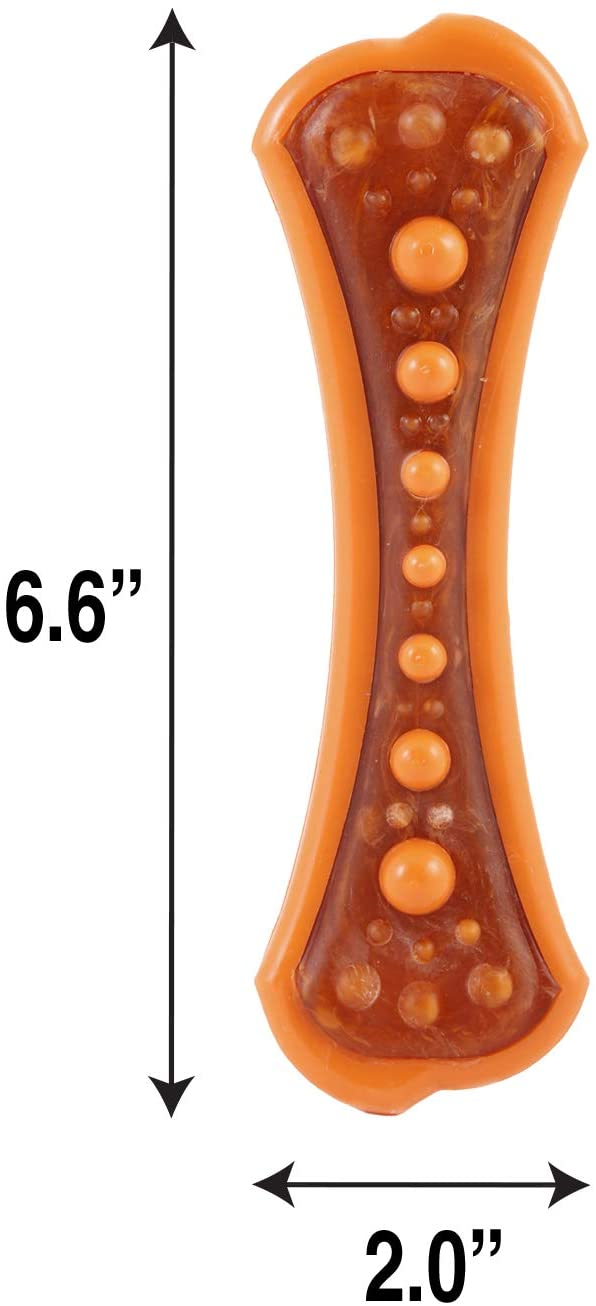 Pet Supplies : Pet Chew Toys : Hartz Chew 'n Clean Dental Duo Bacon Flavored Dental Dog Chew Toy and Treat - Large, Colors may vary :