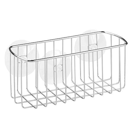InterDesign York Bathroom Shower Shelf, Suction Shower Basket ...