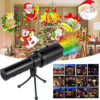 45750caae60 TECHVIDA Proyector de Luz LED Lámpara de proyección 12 Modos de Luces  decorativas Portátil y Seguro Buen Regalo para Niños Decoración de Luces  para Navidad