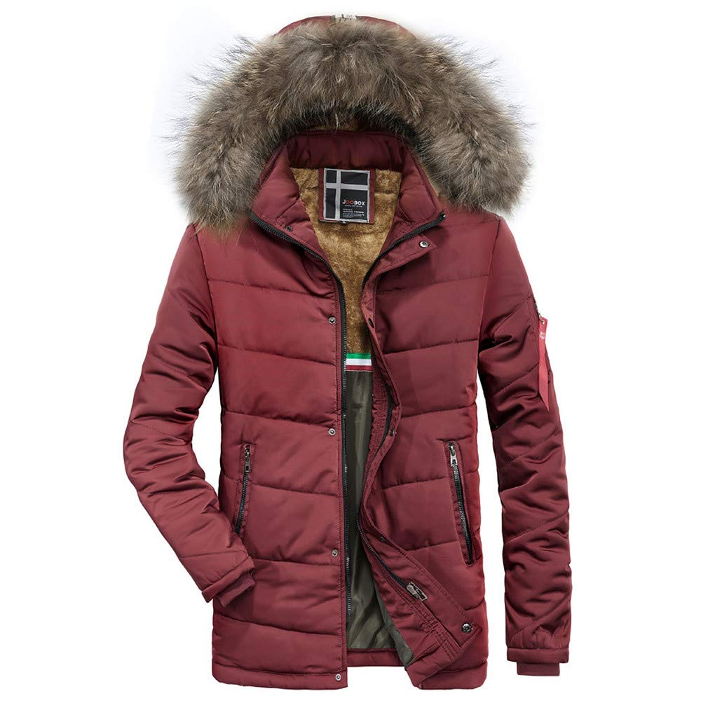Kadola Down Jacket Men's Winter Fashion Medium Length Hoodie Thickened Cotton Padded Coat