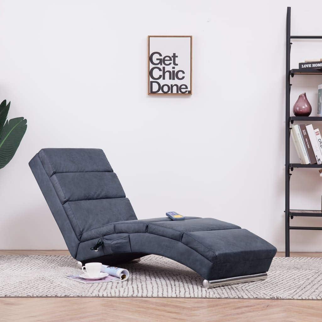 Festnight Massage Relaxliege  Wohnzimmer Liegesessel  Modern Relaxsessel   Liegestuhl  Sofaliege  Polsterliege  mit 19 Massagemodi und
