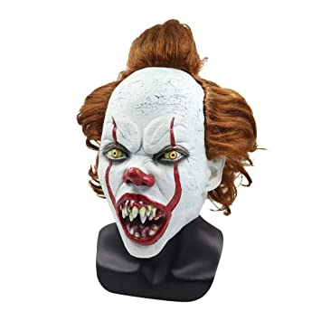 MBEN Pennywise Máscara Disfraz Máscara Cosplay Halloween, Fiesta ...