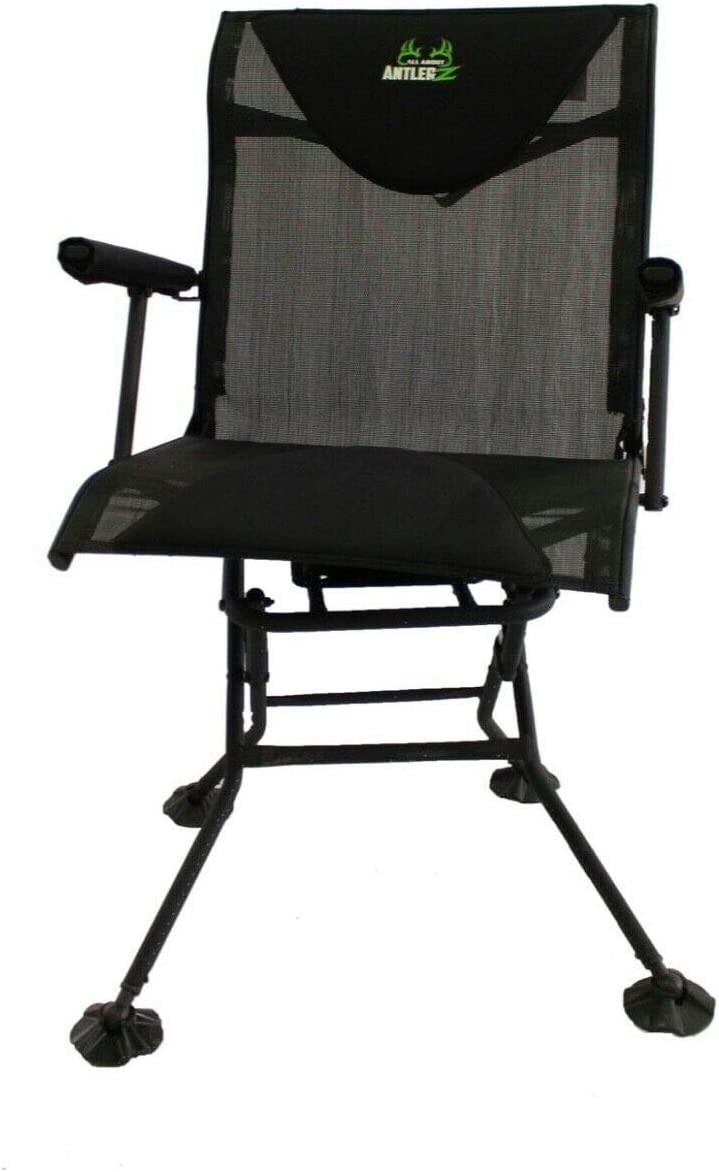 Deer Turkey Hunting Comfort Blind Chair Swivel 360 Degree AllAboutAntlerZ
