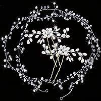 Diadema para novia, 3 unidades, de cristal,