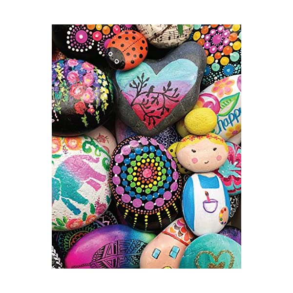 Rock-Art-Handbook-Techniques-and-Projects-for-Painting-Coloring-and-Transforming-Stones-Fox-Chapel-Publishing-Over-30-Step-by-Step-Tutorials-using-Paints-Chalk-Art-Pens-Glitter-Glue-More-Paperback–Au