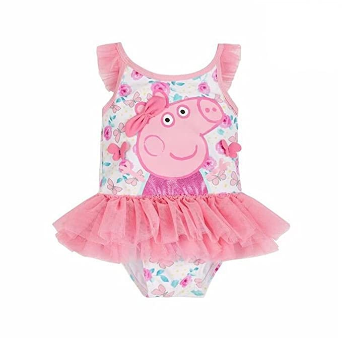 25b44bb5ed6c1 Image Unavailable. Image not available for. Color  Meteora Toddler Baby Girls  Swimsuit Peppa Pig One-Piece Bikini ...