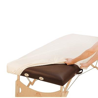 ölresistenter PU Housse pour Table de Massage Liegen Housse, drap-housse Housse pour la protection des allongé, huileuses Niveau, imperméable, de couleur crème