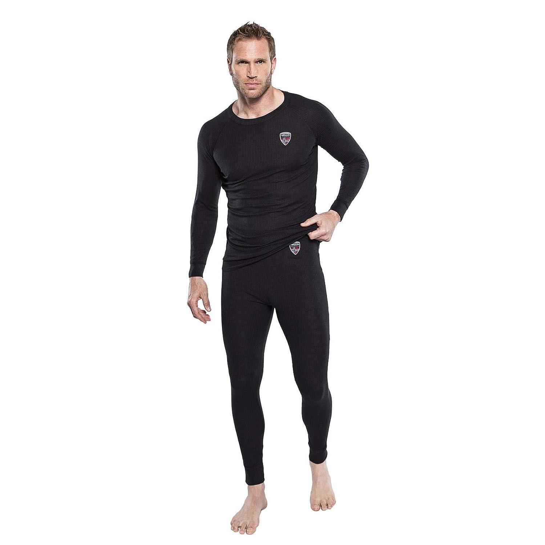 Nebulus Teight II - Camiseta térmica para Hombre, Color Negro
