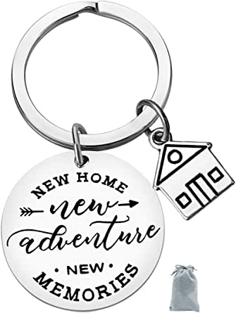 New Home Keychain New Home New Adventures New memories Keychain First Home Gift Housewarming Gift Realtor Closing Gifts House Keyring Moving in Key Chain New Home Owners Jewelry