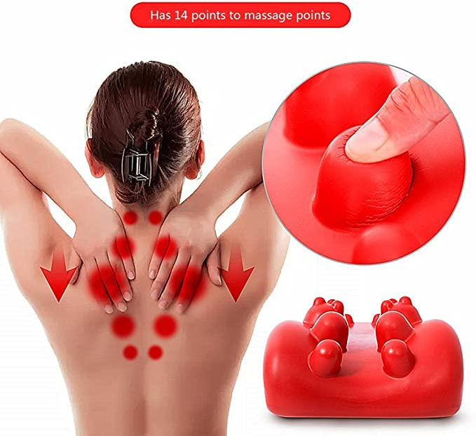 Univegrow du Cou et des /épaules D/éfrisant Oreiller avec Trigger Point Massage Oreiller Cou Soulagement de la Douleur et de Prise en Charge