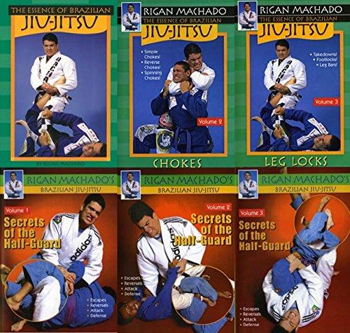 Rigan Machado Brazilian Jiu Jitsu 6 DVD Set Essence & Secrets Half Guard mma