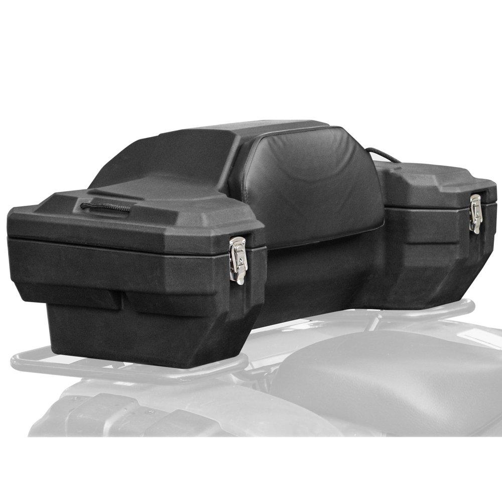 Rage Powersports ATV-CB-8020 Lockable Hard Sided Rear ATV Storage Box with a Comfortable Padded Backrest