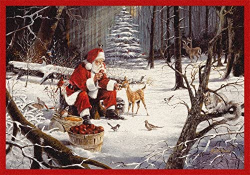 Milliken Holiday Collection Christmas Party, 5 4 X7 8 Rectangle, 02004
