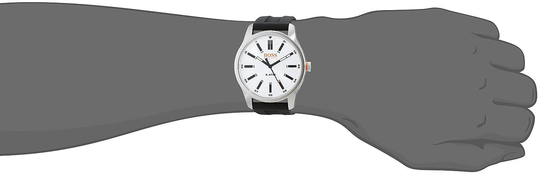 fa4df7af6534 Hugo Boss Orange Homme Analogique Classique Quartz Montres bracelet avec  bracelet en Cuir - 1550043  Amazon.fr  Montres