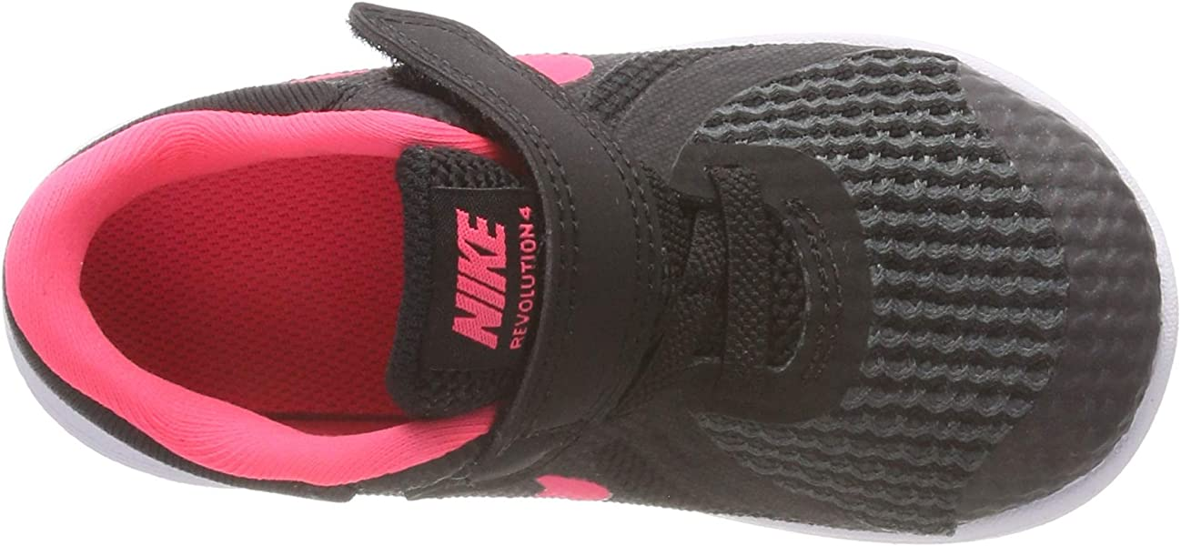f669fda613 Nike Girls' Revolution 4 (TDV) Running Shoe, Black/Racer Pink -. Back.  Double-tap to zoom