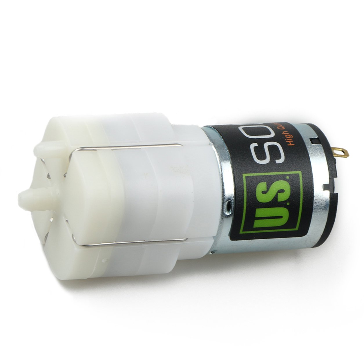 U.S. Solid Micro Air Pump- 12V DC Mini Pump. Easy fix for Home Appliances, Massage Chairs, Aquariums or Ponds, Terrariums, Blood Pressure Monitors, and other Medical Equipment