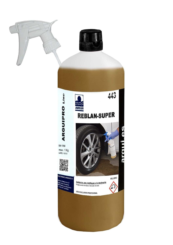 REBLAN SUPER 1 Litro. Detergente proffesionale per cerchioni auto premium, per cerchioni in alluminio e acciaio verniciati. SENZA STROFINARE.SENZA ACIDO argui.es