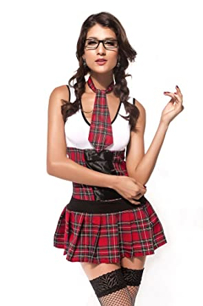 35197f984 Forever Young Ladies Sexy School Girl President Uniform Halloween Fancy  Dress Costume (UK Size 8