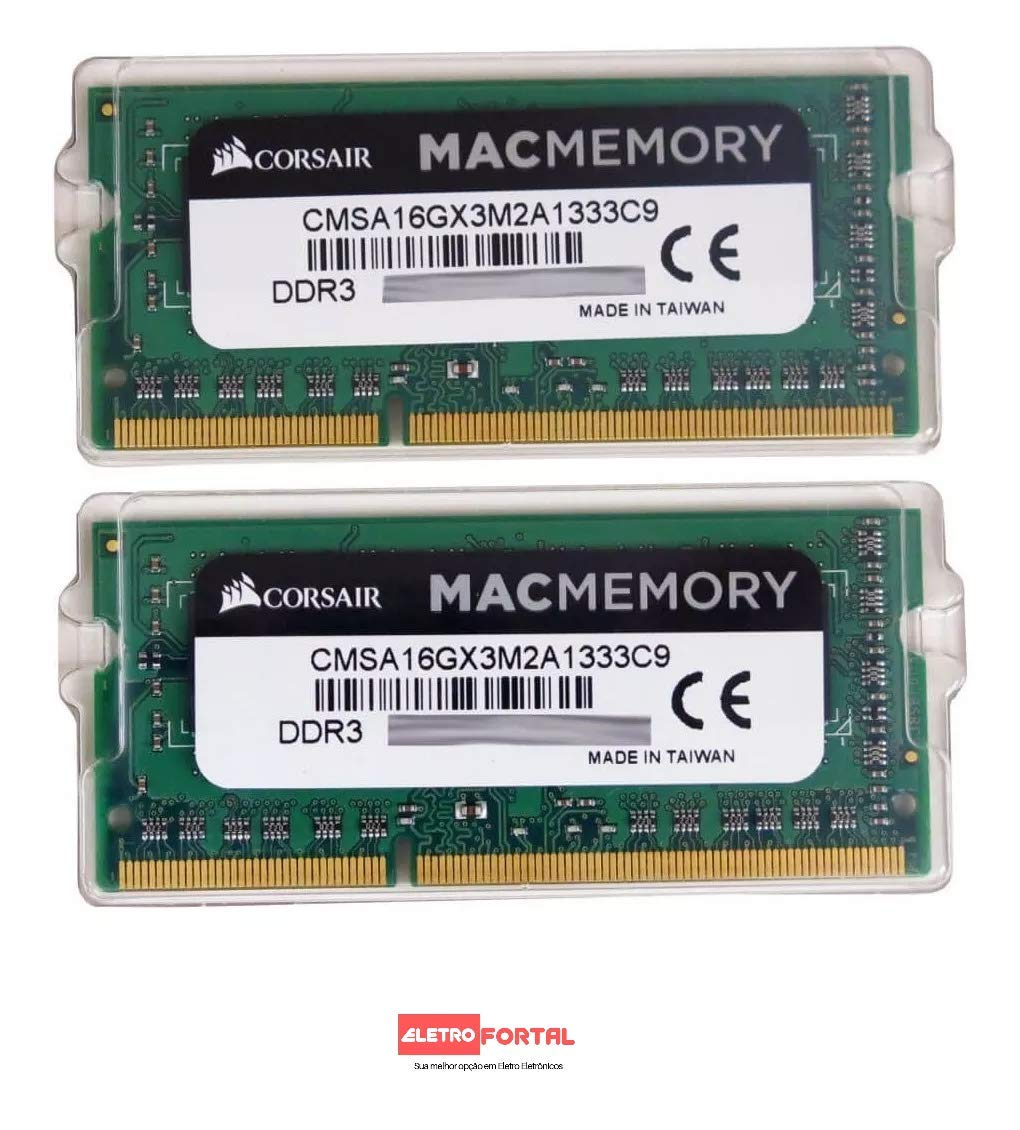 Corsair Mac Memory 1 x 4 GB, DDR3, SODIMM, 1333 MHz, CL9, certificada por Apple CMSA4GX3M1A1333C9 Memoria para Apple Mac de 4 GB